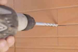percer cloison brique terre cuite