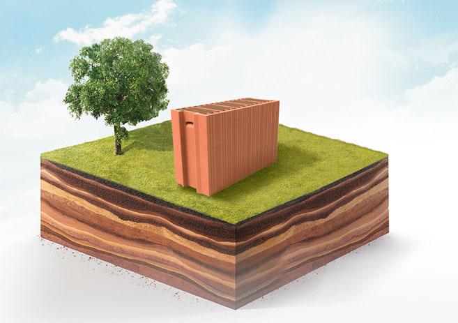 la brique est l'un des matériaux qui limite le plus son empreinte énergétique